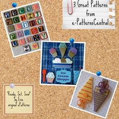 """I ♥ Plastic Canvas!!! Weekend Fun, courtesy of e-PatternsCentral and """"Ready, Set, Sew!"""" by Evie -- Download a quick and easy ePattern, curl up on your couch and enjoy some relaxing craft time! ☺"""