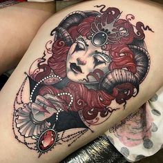 She Devil tattoo by @jennakerrtattoo at @devilinthedetail_studio in Stoke on Trent, U.K. #jennakerrtattoo #jennakerr #devilinthedetail #devilinthedetailing #devilinthedetail_studio #devilinthedetailstudio #stokeontrent #uk #unitedkingdom #shedevil...