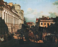 Kraków Bishops Palace, City of Warsaw, Masovian Voivodeship; Canaletto painting