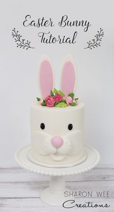 Those that know me well or have visited my house know that I am obsessed with bunnies. Like, seriously obsessed! I have bunny figurines everywhere and even a real live one that hangs out with me in the front office :) So I thought I'd create a fun and simple cake design for Easter (or any…