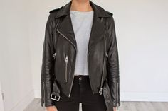 The AllSaints Leather - Chloe Perkins   AllSaints Balfern Leather Biker Jacket