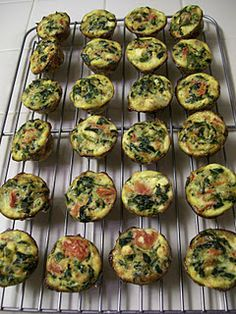 TONS of mini crustless quiche variations :).