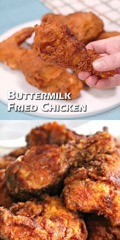 The post Buttermilk Fried Chicken VIDEO appeared first on Woman Casual - Food and drink Chicken Recipes Video, Fried Chicken Recipes, Meat Recipes, Healthy Dinner Recipes, Cooking Recipes, Simple Fried Chicken Recipe, How To Fry Chicken, Gluten Free Fried Chicken, Fried Chicken