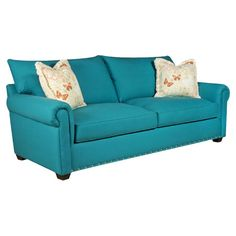 You should see this Pebbletex Sofa in Peacock Blue on Deals + Modern Design Ideas | AllModern