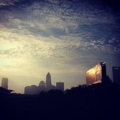 Uptown Silhouette // {the five senses} in the Queen City #5senses #sight #upown #charlotte #clt #clttraffic #morning #commute (Taken with Instagram)