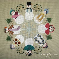 NOT a free pattern, but I made this years ago for a friend and had forgotten about it. Fun to see it again. Stitching Dreams: Winter Circle