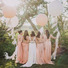 Hochzeitsdeko - Gigantisch großer Luftballon Satinband Hochzeit - ein Designerstück von Sarahnadja bei DaWanda