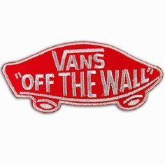 Vans off the Wall SKATEBOARD RED IRON ON PATCHES # WITH FREE GIFT