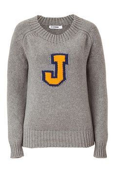 "Jil Sander Cashmere Sweater with ""J"" - $1,680."