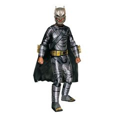 Boy's Armored Deluxe Muscle Chest Batman Costume - Medium