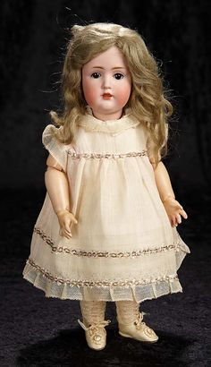 """Interlude"" - Marquis Catalogued Auction - March 11, 2017: 215 German Bisque Character Doll, Model 249, by Kestner"