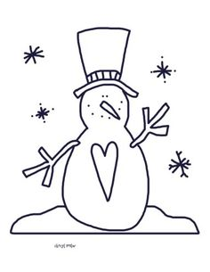 The Snowflakes Snowman Family and Tons of free cute coloring pages