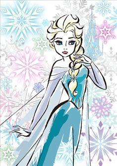 108ピース ジグソーパズル アナと雪の女王 エルサ/フラワー(18.2x25.7cm)
