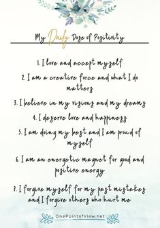 Positive affirmations for women: 7 things you should tell yourself every morning to boost your self-esteem. Free printable list of positive affirmations. #motivation #inspiration #self-esteem #confidence #quotesforwomen Positive Self Talk, Negative Self Talk, Affirmations For Women, Positive Affirmations, Personal And Professional Development, I Believe In Me, Self Actualization, Confidence Tips, Warrior Quotes