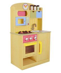 Look what I found on #zulily! Little Chef Burlywood Play Kitchen Set #zulilyfinds