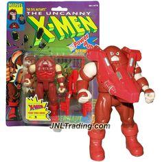 "ToyBiz Year 1991 Marvel The Uncanny X-Men Series 5"" Tall Action Figure - Evil Mutants JUGGERNAUT with Battering Ram & Marvel Universe Trading Card"
