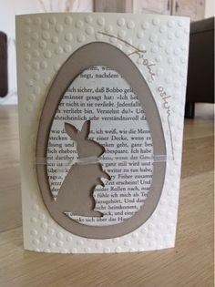 ART: Häschen im Ei (diy paper cards) Office Christmas Decorations, Handmade Birthday Cards, Card Tags, Diy Cards, Paper Cards, Diy Paper, Stamping Up, Creative Cards, Easter Crafts