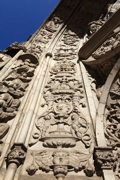 Lisbon arch by Stuart Foster   Bas relief sculpture on the tympanum of the Conceicao Velha Church (Igreja da Conceicao Velha) in central Lisbon, Portugal. The Manueline style South Portal is all that remains of the original church, which collapsed in the 1755 earthquake, and is a national monument.