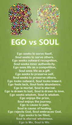 The ego seeks to divide and separate. The soul seeks to unify and heal. Repost