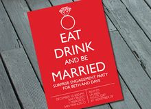 EAT, DRINK & BE MARRIED engagement, wedding or shower invitation  #EngagementInvitation #SweetLex