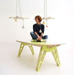 PUZZLE TABLE & ELECTRIC PEARS by Antonina Lantsova