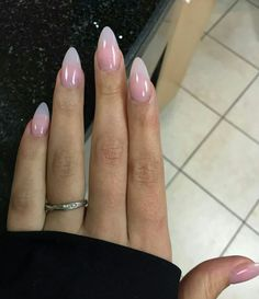 Best Almond Nails 22 of The Best Almond Nails Fav Nail Art powder nails Acrylic Summer Nails Almond, Short Almond Nails, Clear Acrylic Nails, Almond Shape Nails, Clear Nails, Natural Almond Nails, Oval Nails, Paris Nails, Almond Nails Designs