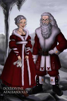 Mr. and Mrs. Claus. Santa Claus. Saint Nicholas. Father Christmas. Father Christmas, Christmas Art, Christmas Holidays, Christmas Ideas, Xmas, Mrs Claus Dress, Bad Santa, Santa Outfit, Santa Crafts