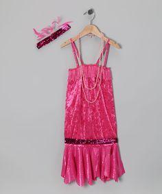 Pink Flapper Cutie Dress-Up Outfit - Girls