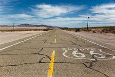 Die legendäre Route 66. Obwohl sie nicht mehr durchgehend befahrbar ist, der Mythos der Straße lebt dennoch weiter.