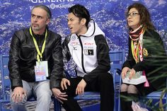 31.03.2012. Nice, France.  Daisuke Takahashi (JPN), ..MARCH 31, 2012 - Figure Skating : Daisuke Takahashi of Japan on the kiss and cry in the mens free skating during the ISU World Figure Skating Championships at the Nice, France. ..
