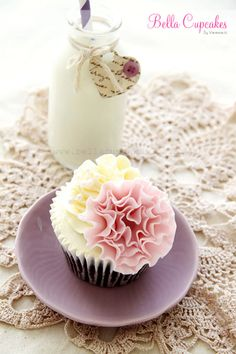 How To Make A Ruffle Flower Cupcake Decoration - Cupcake Daily Blog - Best Cupcake Recipes .. one happy bite at a time! Chocolate cupcake re...