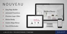 Download and review of Nouveau - Multi-Purpose Retina WordPress Theme, one of the best Themeforest Creatives themes