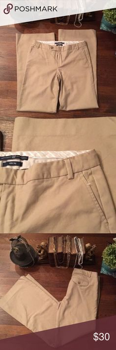 NWOT Gap Wide Leg Long Khaki Pants Gap Wide Leg Long .... it doesn't have the actual tag on it ... probably had to hide it from my husband 😂 bit it does still have the clear tag thingy GAP Pants Boot Cut & Flare