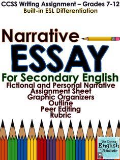 Narrative Essay (CCSS Aligned   Grades 7 10)