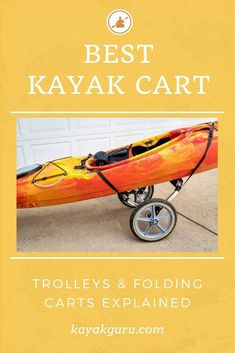 There are different trolleys for different kayaks. Read our buyer's guide to see which kayak cart is the best for you Kayak Fishing Tips, Kayaking Tips, Fishing 101, Fishing Guide, Going Fishing, Best Fishing, First Time Camping, Camping With Kids, Windsurfing
