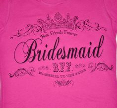 Custom Personalized Bridesmaid T Shirt