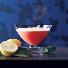Mediterranean Pink Lady | Angus Winchester loves limoncello and Campari and wanted to combine them in a classic-style (that is, not overly esoteric or fussy) cocktail. The result is a pretty pink drink that's citrusy and crisp.