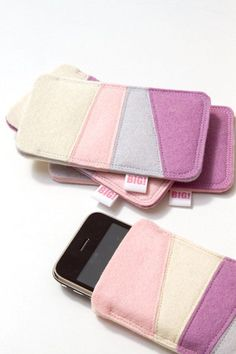 be67d30bf Felt cell phone cover for Iphone and smartphone by StudioBIG, €17,50 Cell