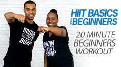 20 Minute HIIT Basics | Easy Home Workout for Complete Beginners | Cardi...