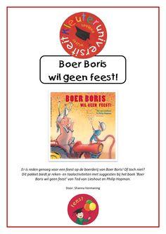Er is reden genoeg voor een feest op de boerderij van Boer Boris! Of toch niet? Dit pakket biedt je reken- en taalactiviteiten met suggesties bij het boek 'Boer Boris wil geen feest' van Ted van Lieshout en Philip Hopman.