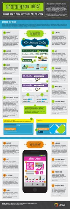 Great infographic detailing the do's and dont's of a successful email call-to-action (CTA)