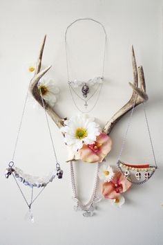 Awesome way to display jewelry (in keeping with the aesthetic of my little cabin in the woods)