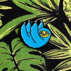 Sloth Enamel Pin Cute Sloth Lapel Pin hello DODO by helloDODOshop