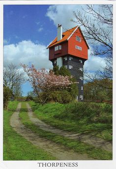 The House in the Clouds is an unusual house which was originally a water tower built in 1923, Thorpeness, Suffolk, UK