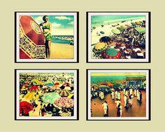 Beach Umbrella Photography Collection - Vintage Florida Decor - Fine Art Deco Photos - Vintage Virginia Beach Prints - Large Wall Art