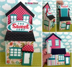 Sweet Shop - Box in a Card Village House™: click to enlarge