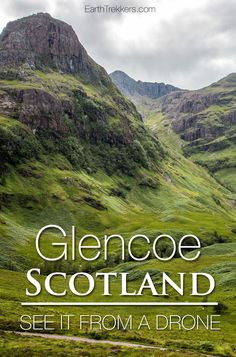 Photo tour of Glencoe and Glen Etive Scotland from land and from drone. Plus, find out where to go hiking.