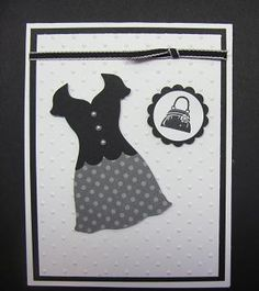 Dress and purse card from Stampin' Up Framelits.