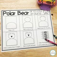 Bear Activities Preschool, Bear Theme Preschool, Drawing Activities, Preschool Winter, Preschool Learning, Winter Activities, Teaching, Kindergarten Anchor Charts, Kindergarten Projects