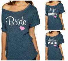 Bride T-Shirt Bridesmaid Shirt Maid of von BridalBlissCouture